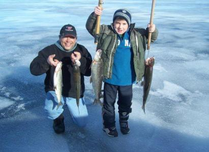Mike and Noah Fishing